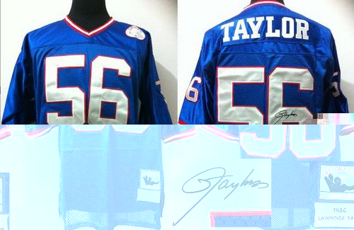 the latest 616ee af8f1 Mitchell And Ness Autographed Giants #56 Lawrence Taylor ...